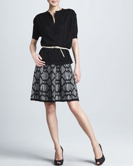 M Missoni Lattice Striped Skirt
