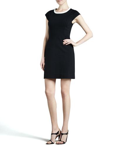kate spade new york daria cap-sleeve colorblock dress