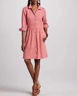 Eileen Fisher Linen Shirtdress, Petite