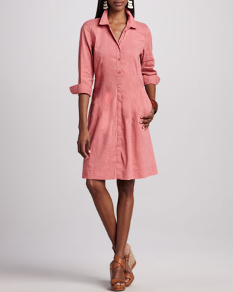 Linen Shirtdress, Women's