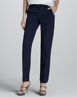 Nanette Lepore Pleated Crepe Trousers