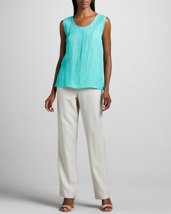 Cabo Straight-Leg Pants, Natural, Petite