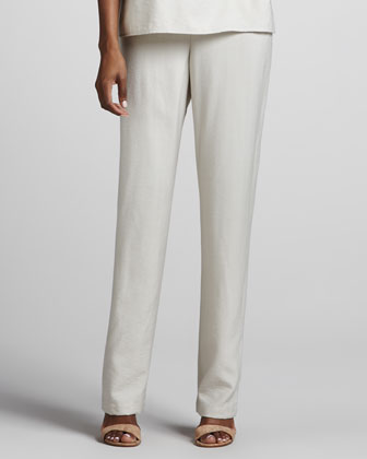 Cabo Straight-Leg Pants, Natural