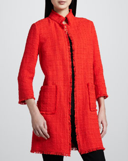 Neiman Marcus Long Tweed Jacket