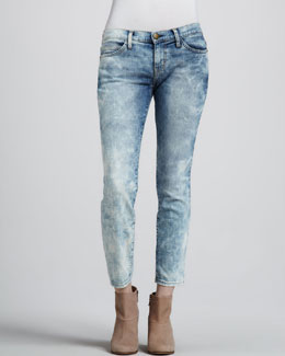 Current/Elliott The Low-Rise Stiletto Jeans, Crazy Wash