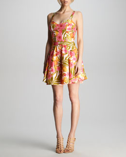 Patterson J. Kincaid Kimmy Tropical-Print Dress