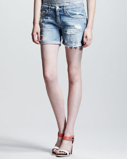 rag & bone/JEAN Tattered Boyfriend Shorts