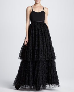 Alice + Olivia Blakely Tiered Lace Ball Gown