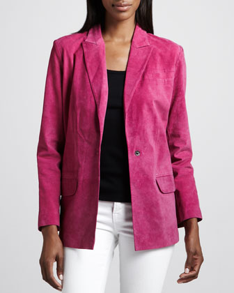 Suede Boyfriend Jacket, Women's