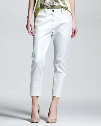 Spyglass Cropped Twill Pants