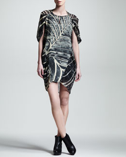 Kelly Wearstler Arachne Printed Chiffon Dress