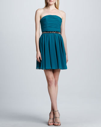 Strapless Fit-and-Flare Dress