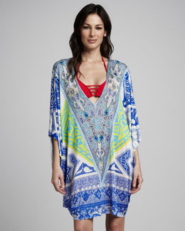 Camilla Paisley-Print Jersey Dress