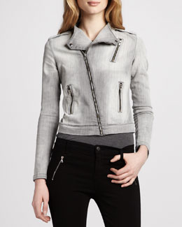 J Brand Jeans Denim Motorcycle Jacket