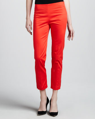 Cropped Side-Zip Pants, Tamale