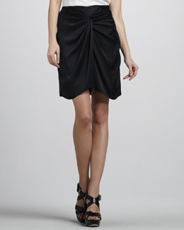 Elizabeth and James Femi Draped Silk Skirt
