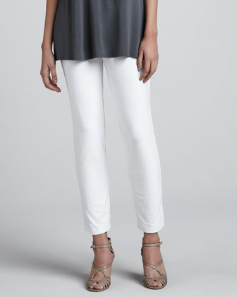 Slim Ankle Pants, White