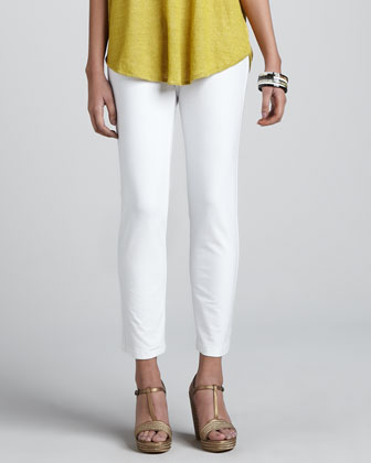 Slim Stretch Crepe Ankle Pants