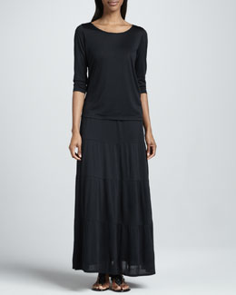 Eileen Fisher Tiered Jersey Maxi Skirt, Women's