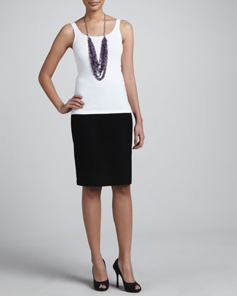 Crepe Pencil Skirt, Petite