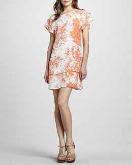 Rachel Zoe Ines Tier-Sleeve Shift Dress