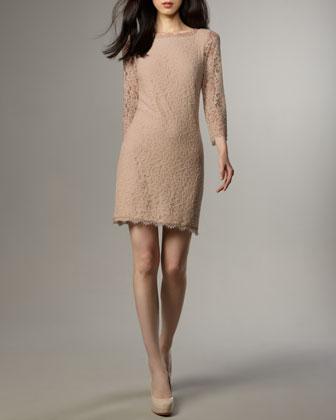 Zarita Lace V-Back Dress
