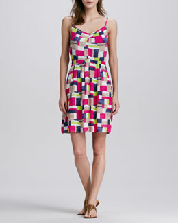 Splendid Patchwork-Print Sleeveless Dress