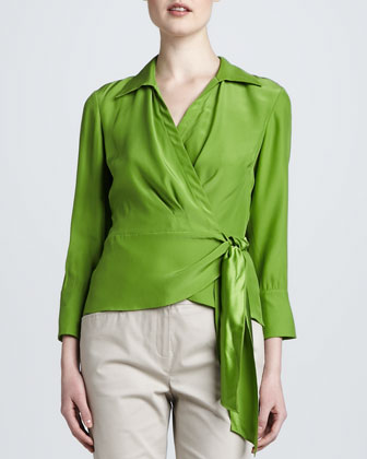 Silk Wrap Blouse