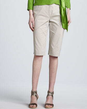 Unlined Bermuda Shorts