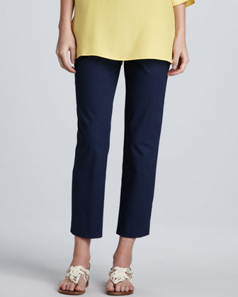 Cropped Side-Zip Pants