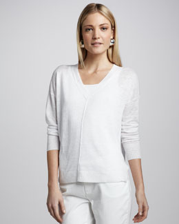 Eileen Fisher Lightweight Linen Boxy Top