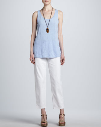 Organic Cotton Slim Ankle Pants, Women's