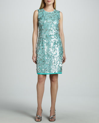 Emory Sequined-Front Dress