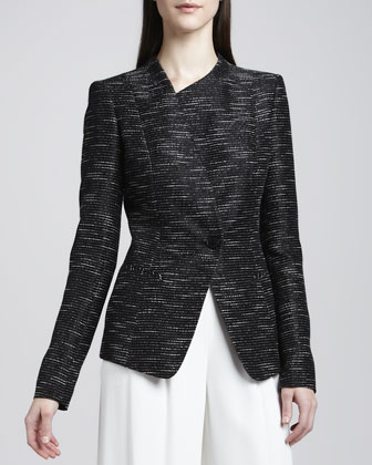 Bridgette Asymmetric One-Button Jacket