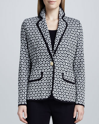 Camille Geometric Knit Jacket, Women's