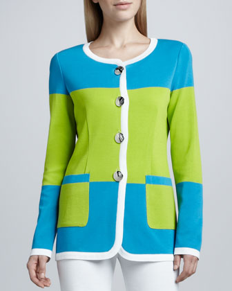 Felicia Knit Colorblock Jacket