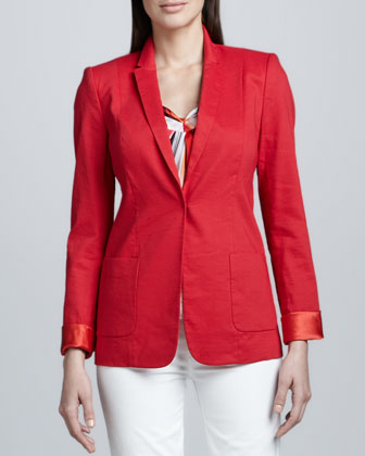 Wendy Linen-Blend Cuffed Jacket