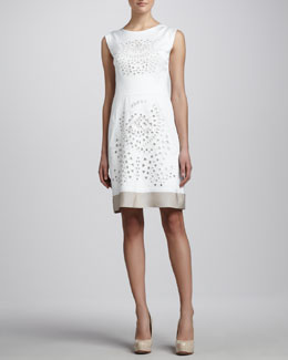 Lafayette 148 New York Elle Embellished Cutout Dress
