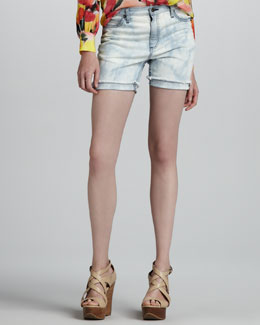 Haute Hippie Bleach-Out Denim Shorts