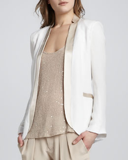 Haute Hippie Blazer with Dropped Lapels