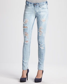 DL 1961 Premium Denim Amanda Frenzy Distressed Skinny Jeans