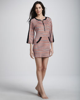 Nanette Lepore Strobe Light Striped Tunic Coverup