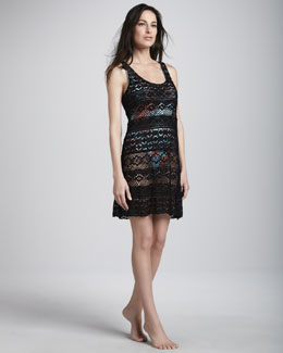 Nanette Lepore Cosmic Crochet Coverup Dress