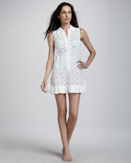 Nanette Lepore Isola Eyelet Sleeveless Coverup