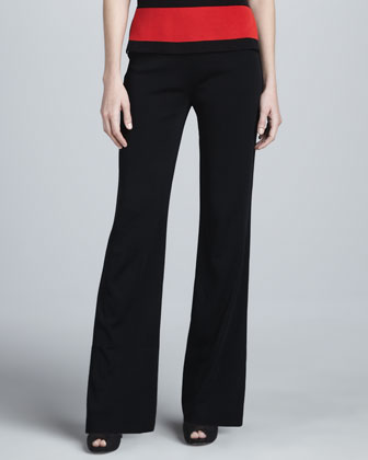 Liz Striped Jacket, Amy Knit Tank & Boot-Cut Pants