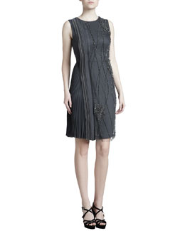 J. Mendel Embroidered Georgette Dress