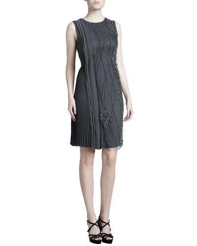 J. Mendel Embroidered Georgette Dress