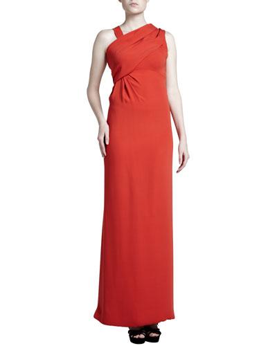 J. Mendel Asymmetric Crepe Gown