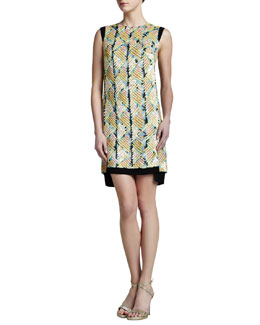 J. Mendel Embroidered Shift Dress
