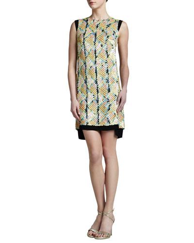 J. Mendel Embroidered Shift Dress